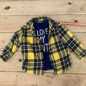 Oshkosh BGosh Flannel Aunt Graphic Tee Set 2t